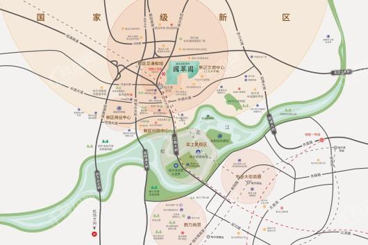 国翠园交通图