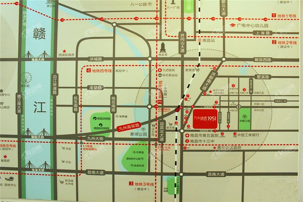 万科洪坊1951位置图