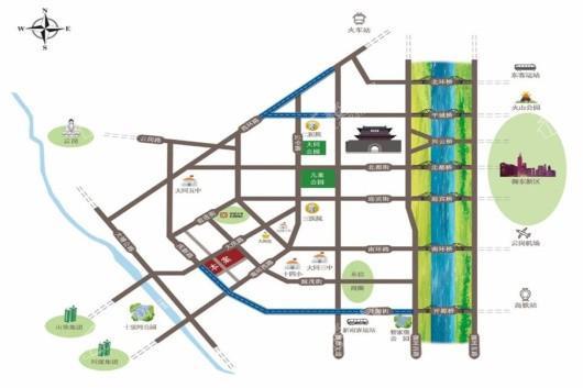 前进新苑交通图