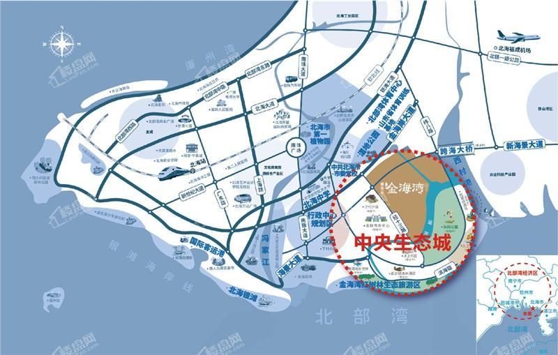 雅居乐金海湾位置图