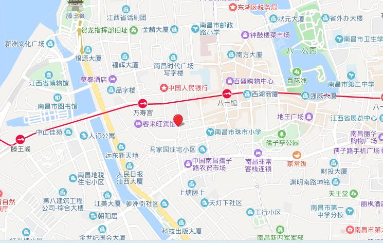 万寿宫历史文化街区位置图