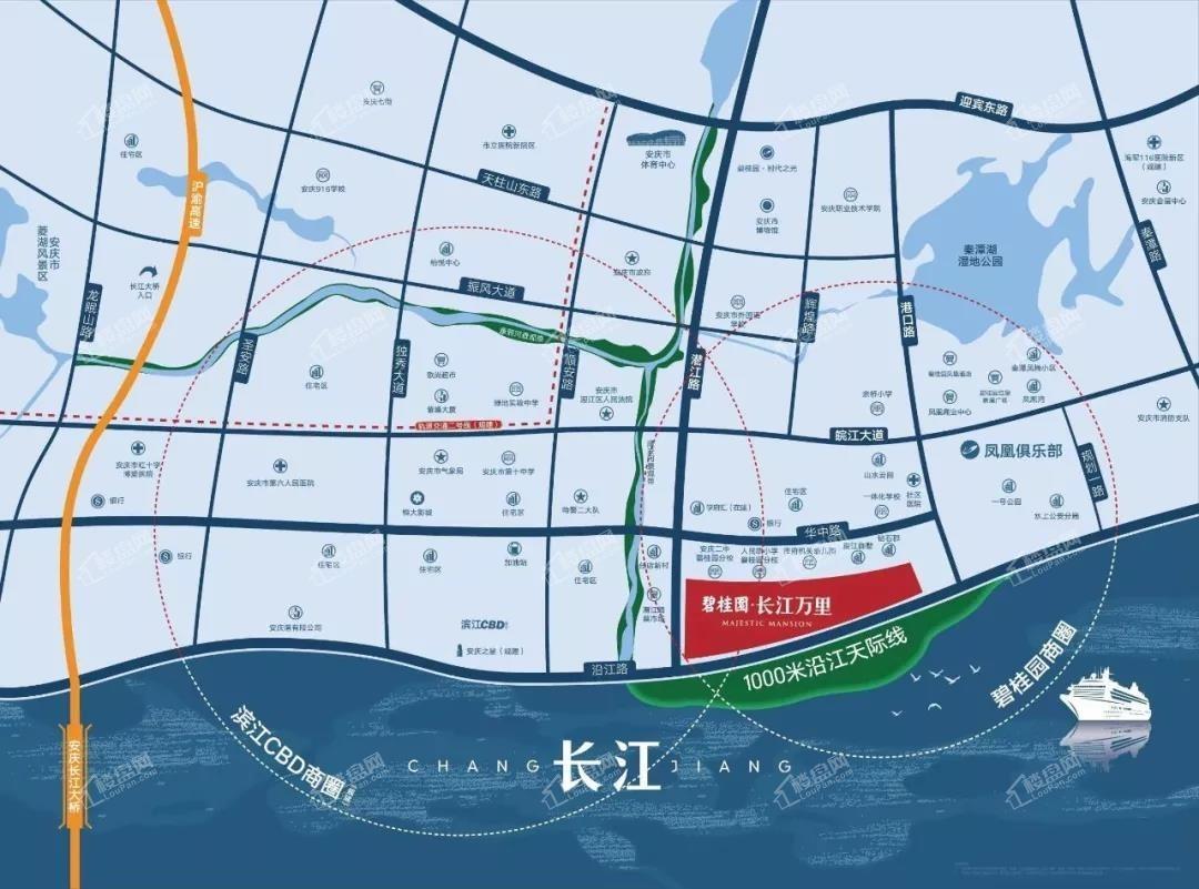 碧桂园·长江万里位置图