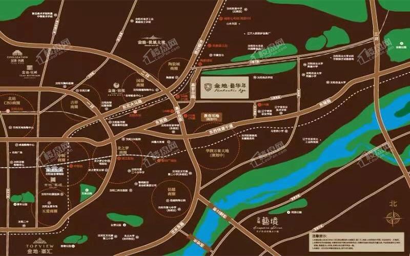 金地艺华年位置图