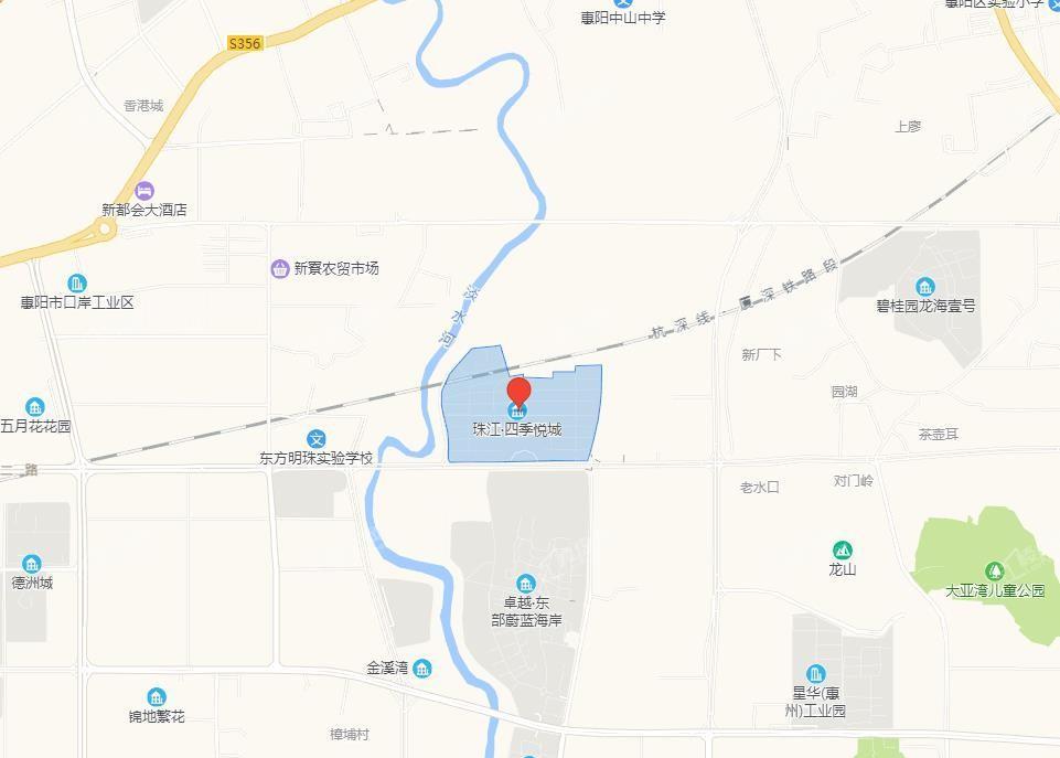 珠江四季悦城位置图