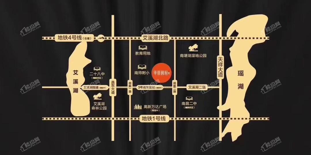 华景润府公寓位置图