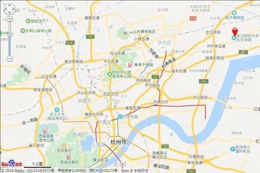 杭海学府交通图