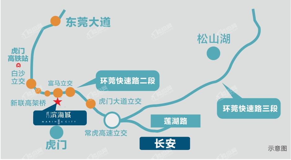 虎门滨海城位置图