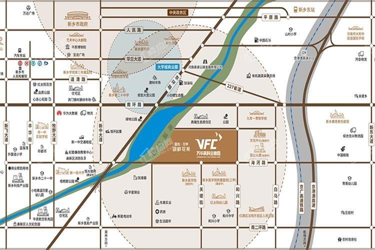 蓝光万华湖畔花苑位置图