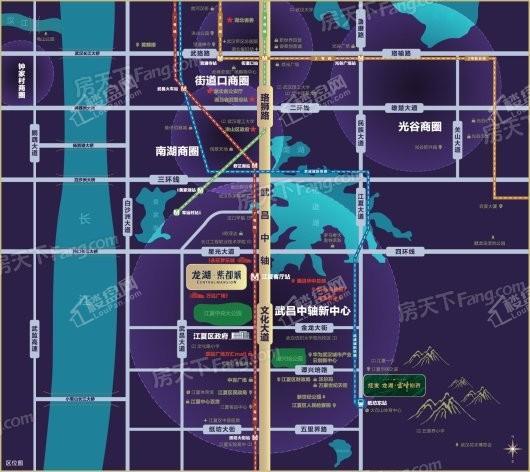 龙湖·紫都城交通图