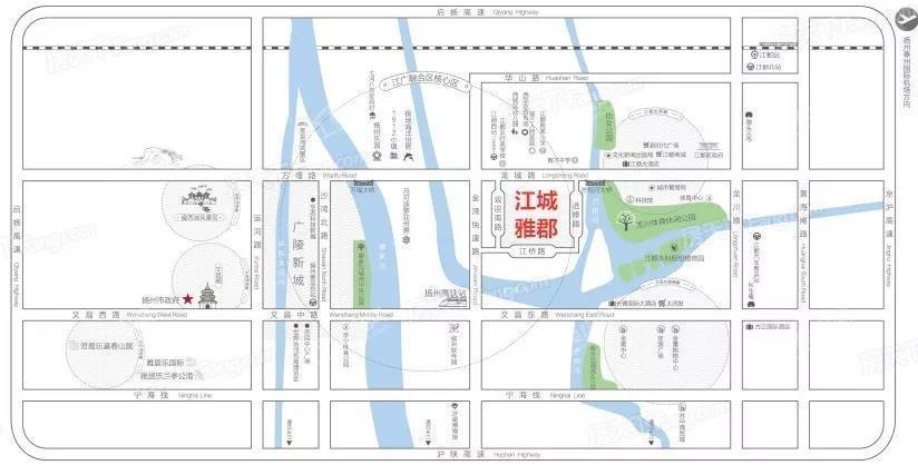 雅居乐江城雅郡位置图