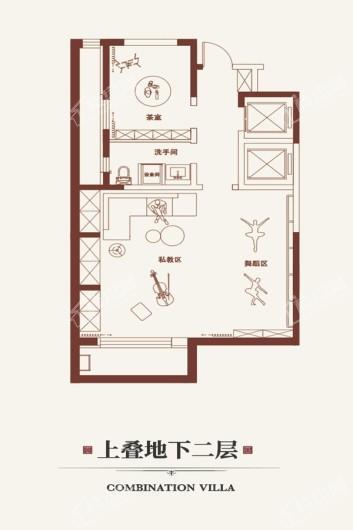 金悦府上叠地下二层 3室6厅4卫1厨