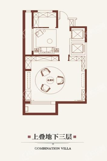 金悦府上叠地下三层 3室6厅4卫1厨