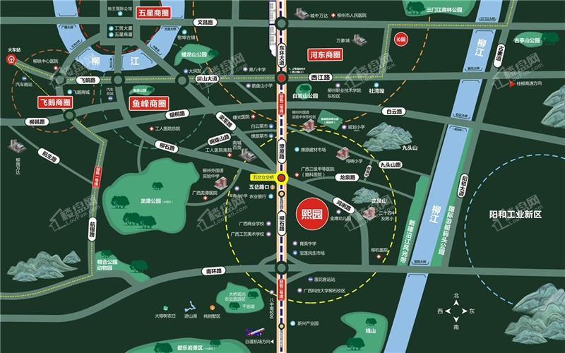 大都熙园位置图
