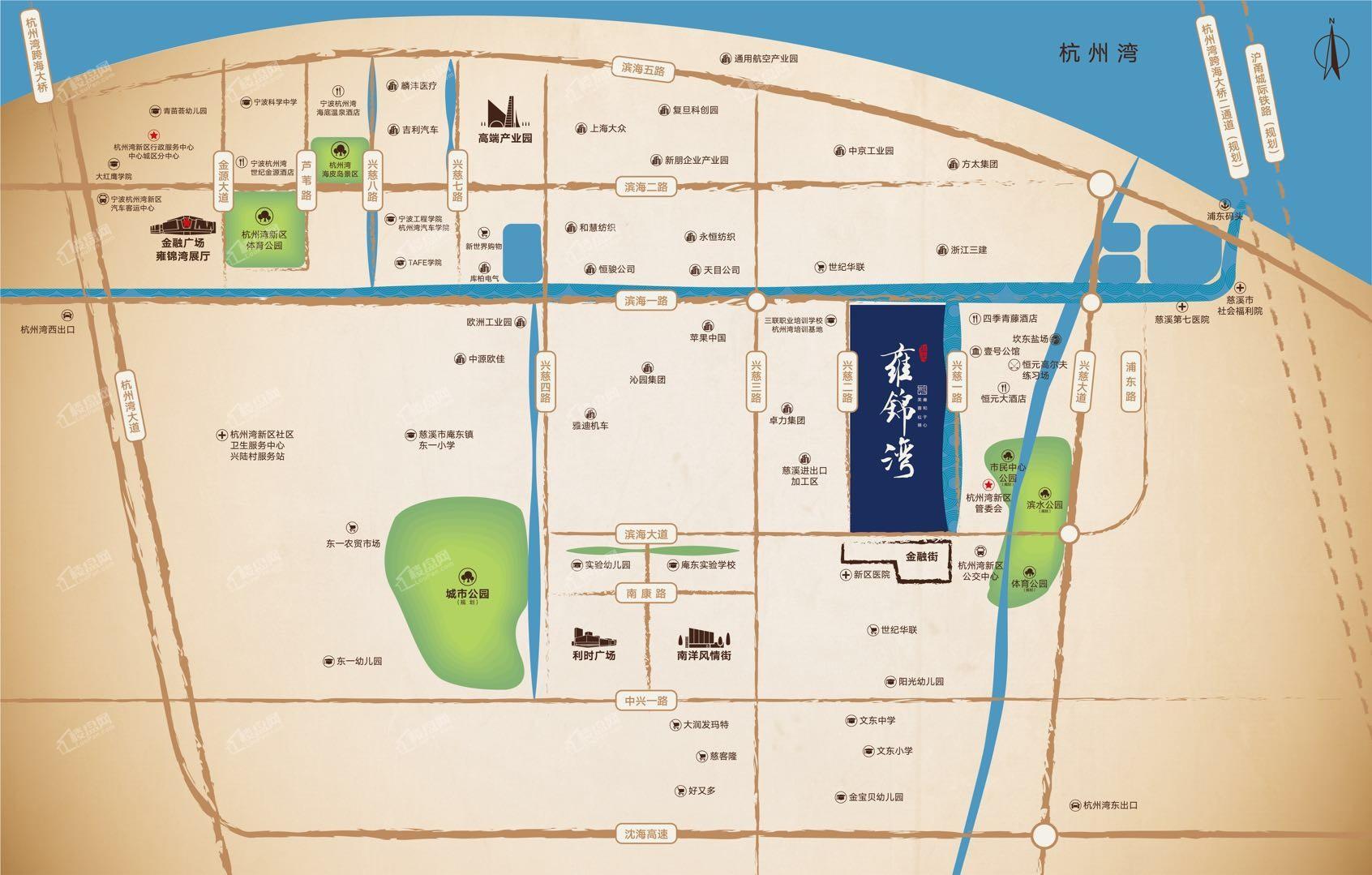 蓝光 · 雍锦湾位置图