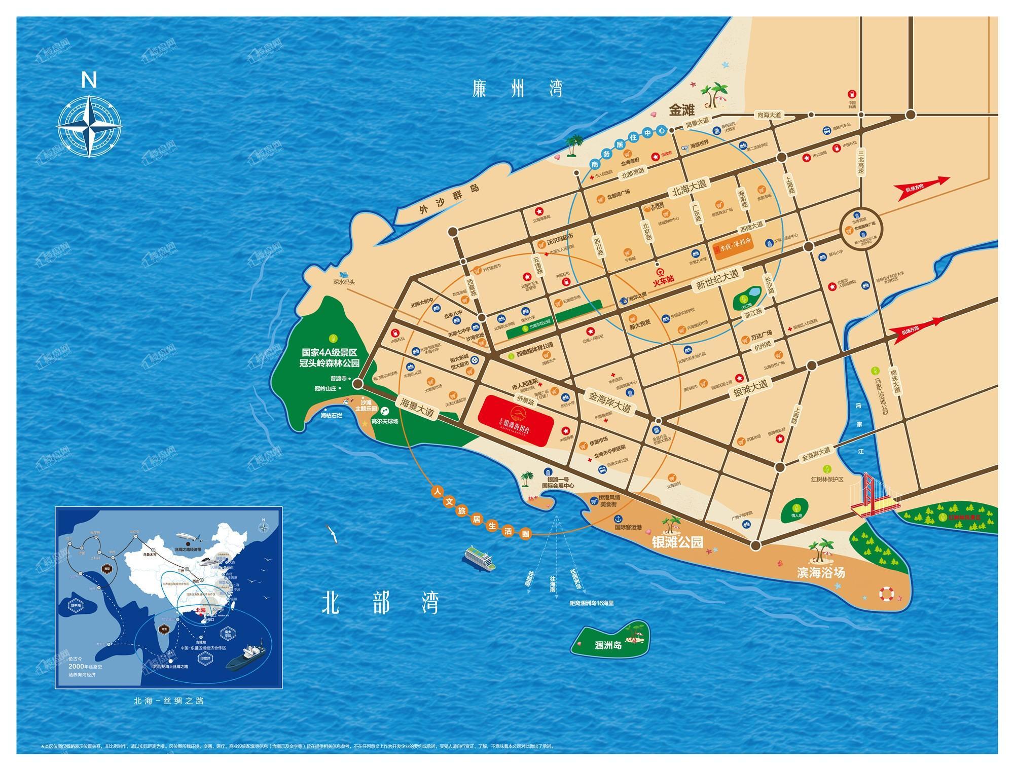 东投银滩海玥台区位图