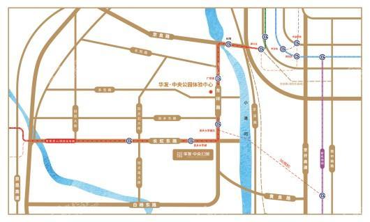 北京华发·中央公园交通图
