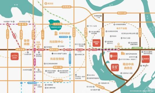 金地·城与城∣艺境位置图