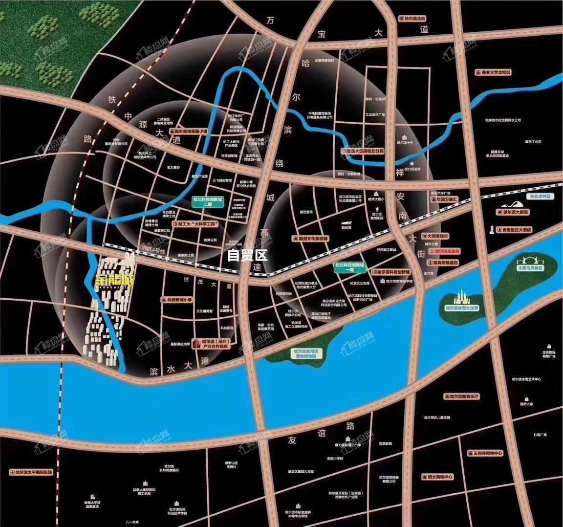 哈尔滨宝能城位置图