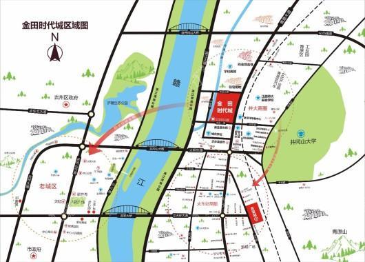 金田时代城交通图