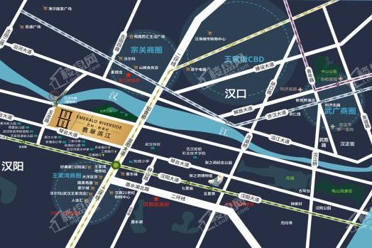 万科新世纪翡翠滨江位置图