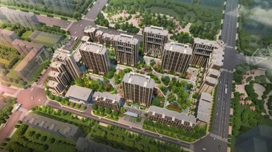 中国铁建·国际公馆日景鸟瞰