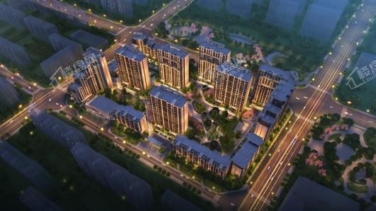 中国铁建·国际公馆夜景鸟瞰