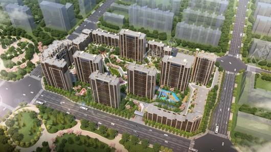 中国铁建·国际公馆南面鸟瞰