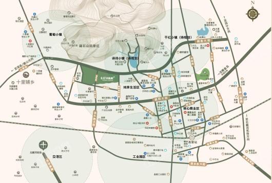 昌黎孔雀城交通图