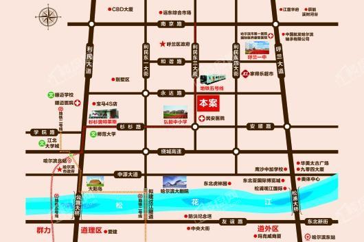 东侨国际(二期)交通图