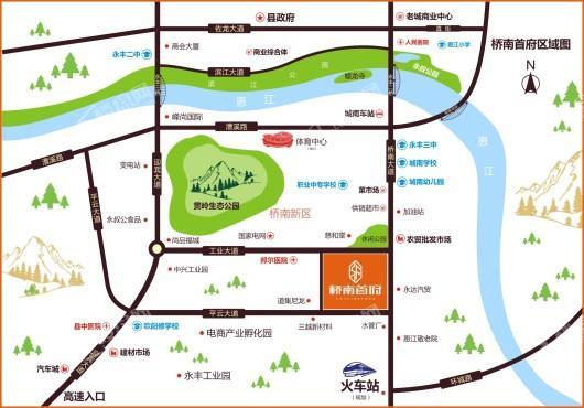桥南首府交通图