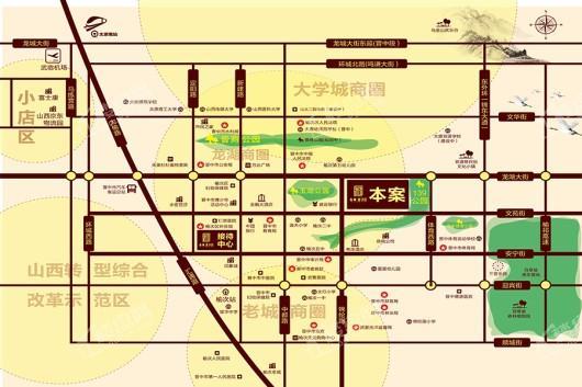 台商·书语郡交通图