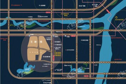 王家湾中央生活区中央之星SOHO位置图