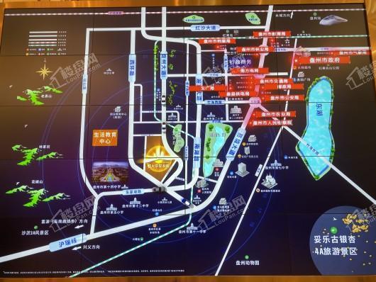 恒大中央公园交通图