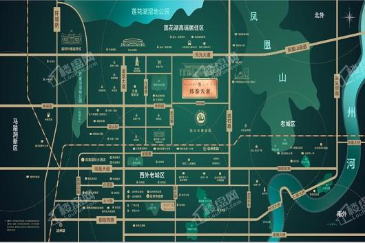 邦泰·天著交通图