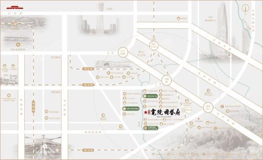 北京城建·宽院·国誉府交通图