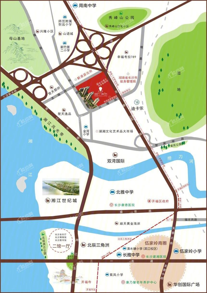 湘江东苑位置图