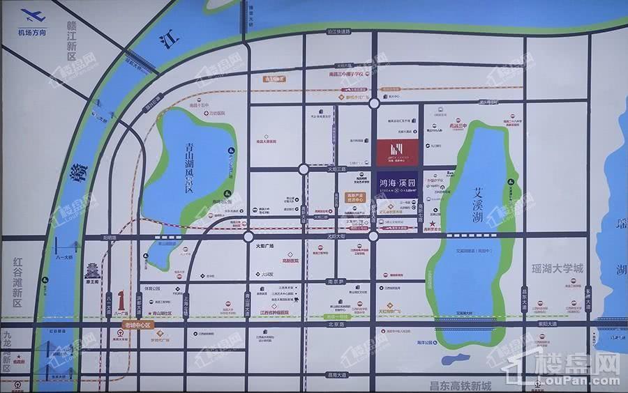 鸿海高新中心位置图