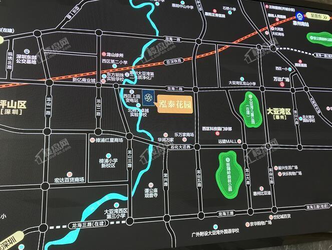泓泰花园位置图