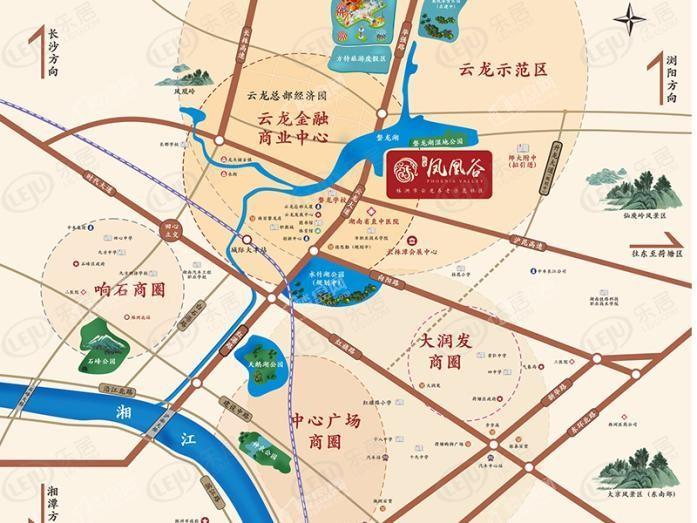云龙凤凰谷位置图