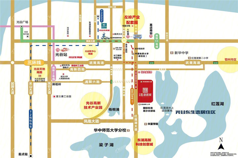 北大资源莲湖锦城位置图