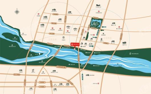 绿城·御河上院交通图