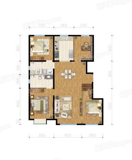 建邦·顺颐府147平方米 4室2厅2卫1厨