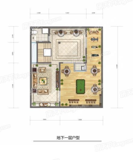 建邦·顺颐府地下一层户型 3室3厅3卫1厨