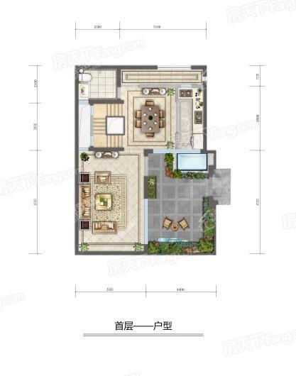 建邦·顺颐府首层户型 3室3厅3卫1厨