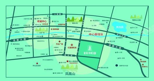 星筑.中央公园交通图