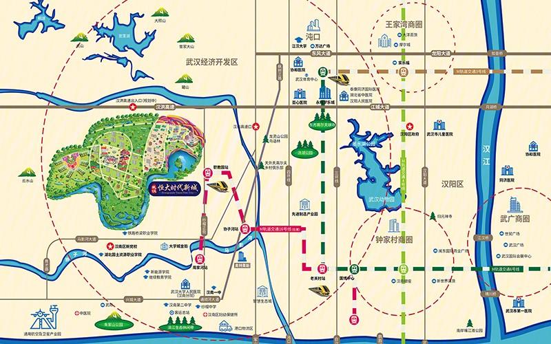 武汉恒大时代新城位置图