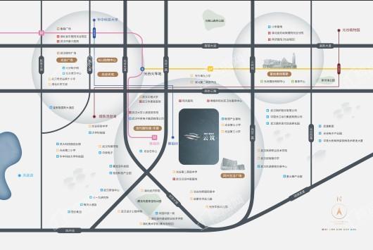 美的雅居乐云筑交通图