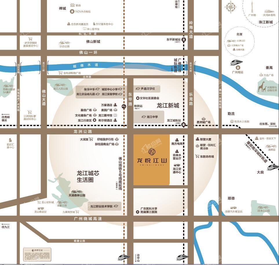 龙悦江山位置图