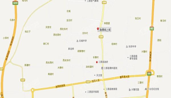时代铭城位置图
