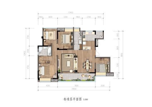成锦熙锦5号户型图